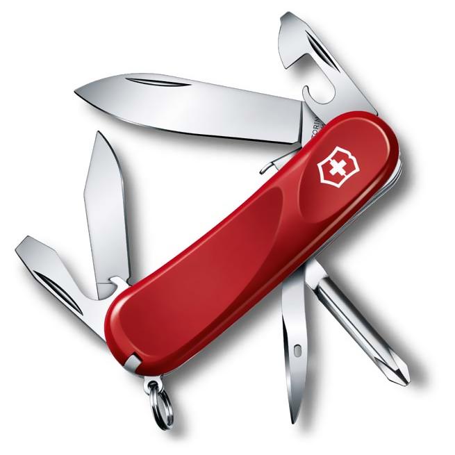 2.4603.SE Evolution S111 Red складной нож Victorinox 85мм, 12 функции с фиксатором лезвия