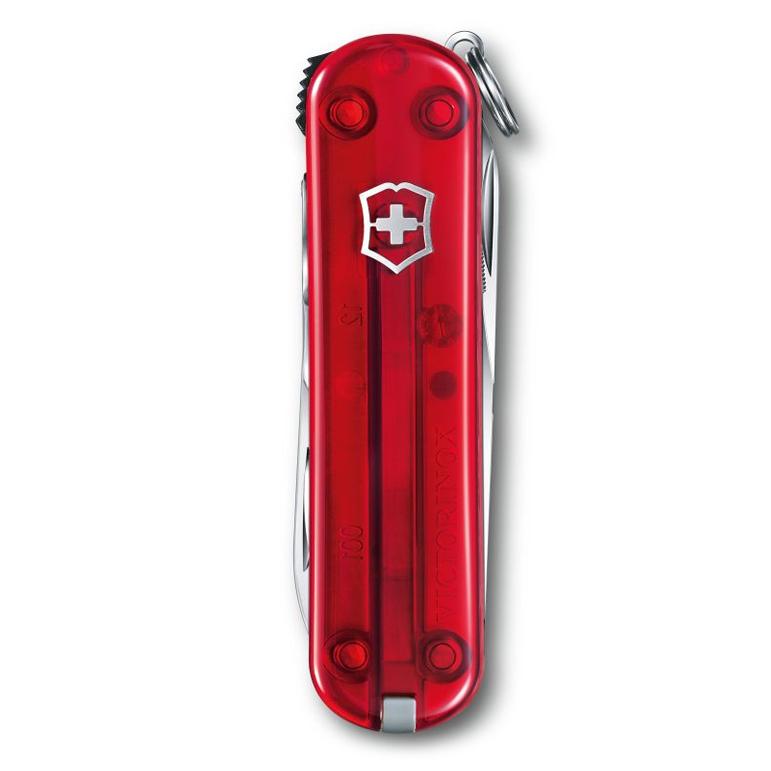 NailClip 580 Складной нож Victorinox 65мм, 8 функций, с прозрачной красной рукояткой