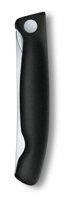 6.7803.FB Складной нож для овощей Victorinox SwissClassic, прямое лезвие 11 см, чёрный