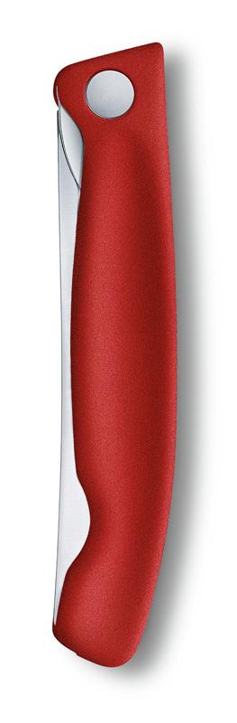 6.7831.FB Складной нож для овощей Victorinox SwissClassic, волнистое лезвие 11 см, красный