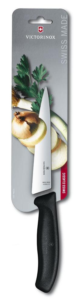 6.8003.15B Кухонный разделочный нож Victorinox SwissClassic, прямое лезвие 15 см, чёрный — victorinox.moscow