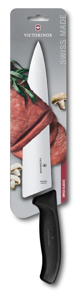 6.8003.25B Разделочный нож Victorinox SwissClassic, прямое лезвие 25 см, чёрный — victorinox.moscow